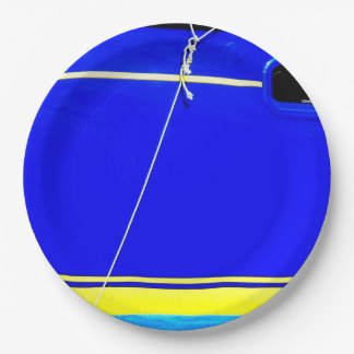 Sailing boat. paper plate