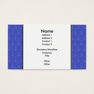 Sailing boat pattern. Blue and White. Business Card