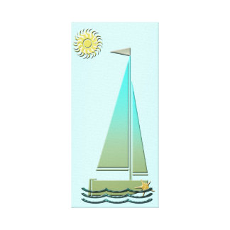 Sailing Boat Poster Canvas Print