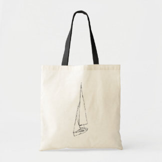 Sailing boat. Sketch in Black and White.