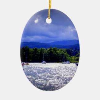Sailing Boats & a Stormy Sky Christmas Ornament