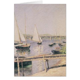 Sailing boats at Argenteuil, c.1888 Card