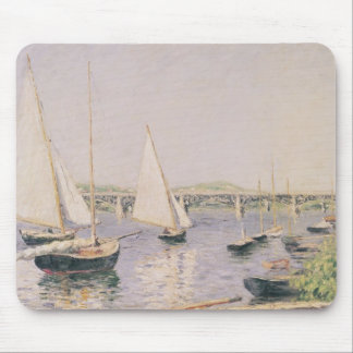 Sailing boats at Argenteuil, c.1888 Mouse Mat