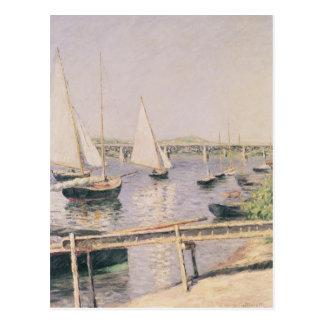 Sailing boats at Argenteuil, c.1888 Postcard
