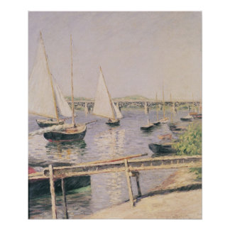 Sailing boats at Argenteuil, c.1888 Poster