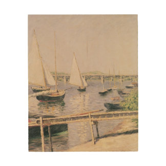 Sailing boats at Argenteuil, c.1888 Wood Print