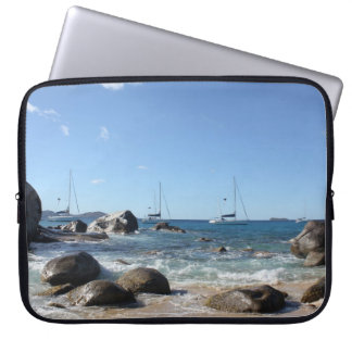 Sailing Boats at the Baths, BVI Laptop Sleeve