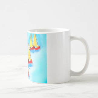 Sailing boats basic white mug