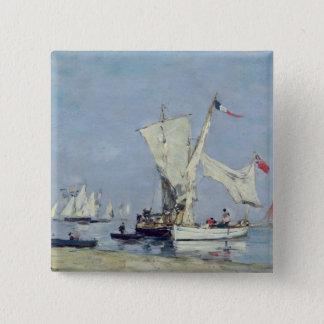 Sailing Boats, c.1869 15 Cm Square Badge