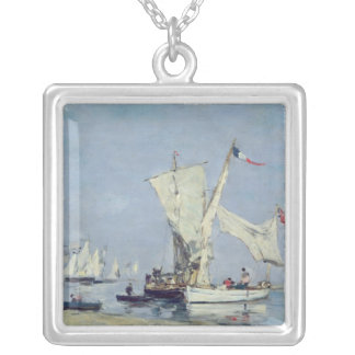 Sailing Boats, c.1869 Silver Plated Necklace