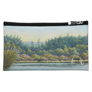 Sailing Boats, Frensham Ponds, Pastel Cosmetic Bag