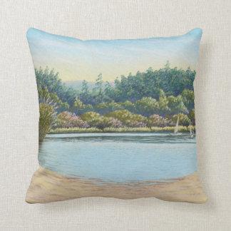 Sailing Boats, Frensham Ponds Polyester Cushion