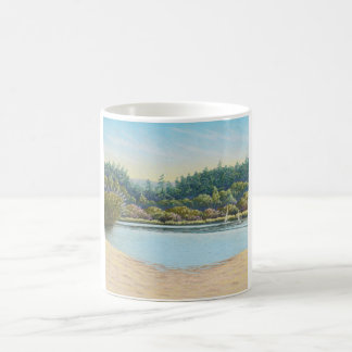 Sailing Boats, Frensham Ponds, Surrey in Pastel Coffee Mug