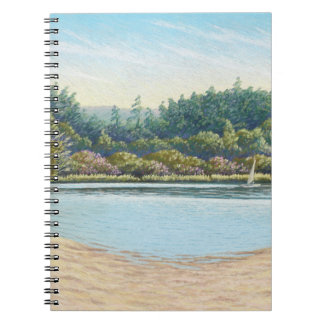 Sailing Boats, Frensham Ponds, Surrey in Pastel Notebooks