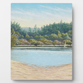Sailing Boats, Frensham Ponds, Surrey in Pastel Plaque