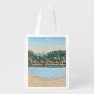 Sailing Boats, Frensham Ponds Surrey Reusable Bag