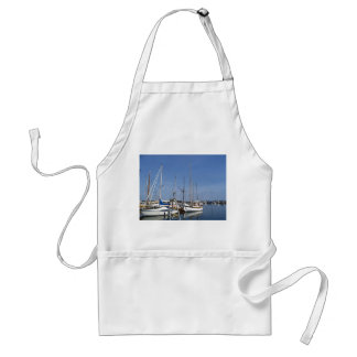 Sailing boats in the harbour standard apron