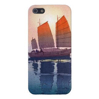 Sailing Boats Morning Hiroshi Yoshida shin hanga Cover For iPhone 5/5S