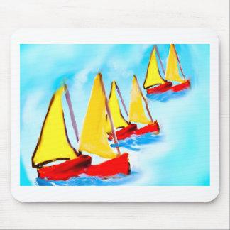Sailing boats mouse pad