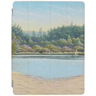 Sailing Boats on Frensham Ponds, Surrey in Pastel iPad Cover