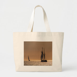 Sailing boats on shore of the Baltic Sea Jumbo Tote Bag