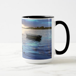 Sailing Boats Reflection From The Sunset Mug