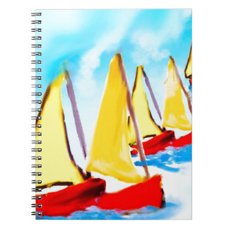 Sailing boats spiral notebook