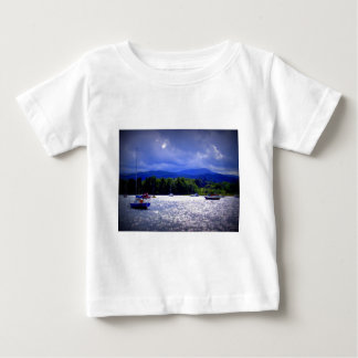 Sailing Boats under a stormy Sky Baby T-Shirt