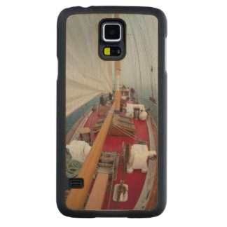 Sailing Boundary Pass Carved Maple Galaxy S5 Case