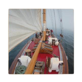 Sailing Boundary Pass Wood Coaster