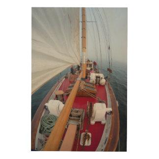 Sailing Boundary Pass Wood Wall Art
