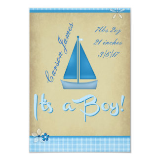 Sailing Boy Card