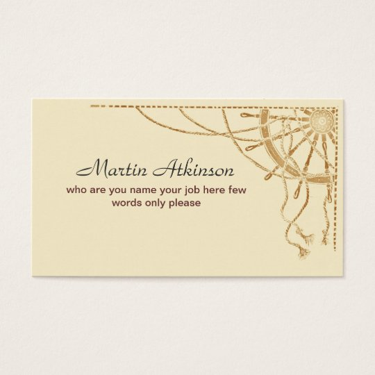 sailing business card