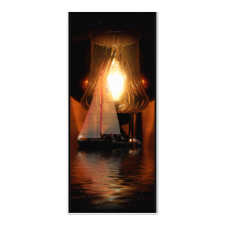 Sailing By The Lantern Light Personalized Rack Card