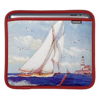 Sailing By The Lighthouse by Albert B. Marks iPad Sleeves