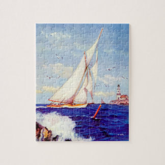 Sailing By The Lighthouse by Albert B. Marks Jigsaw Puzzle