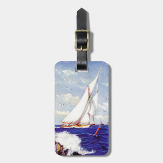 Sailing By The Lighthouse by Albert B. Marks Luggage Tag