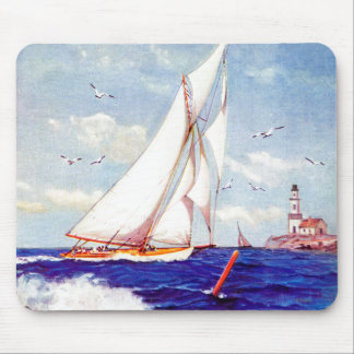 Sailing By The Lighthouse by Albert B. Marks Mouse Mat