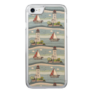 Sailing Carved iPhone 7 Case