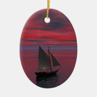 Sailing Christmas Ornament