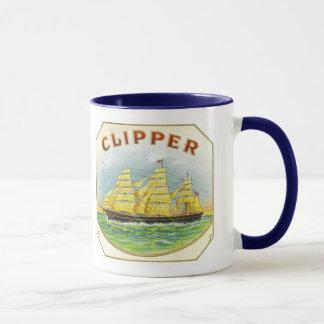 Sailing Clipper from Cigar Box on Mug