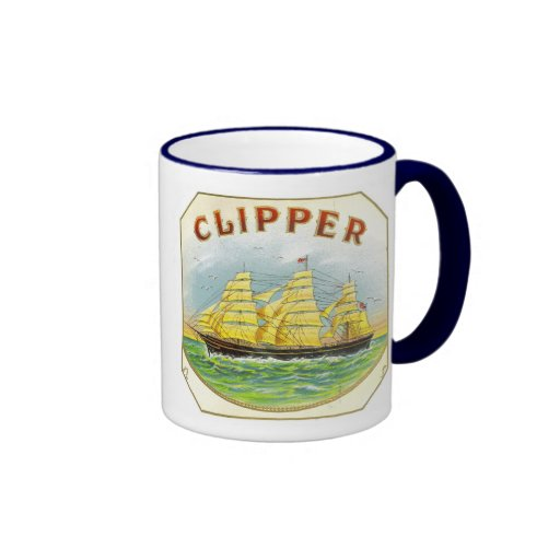 Sailing Clipper from Cigar Box on Mug