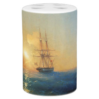 Sailing Clipper Ship Ocean Beach Bath Set