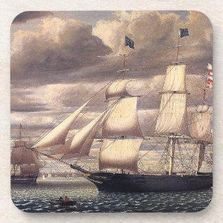 Sailing Clipper Ship Ocean Seas Coaster