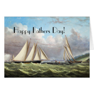 Sailing Clipper Ships Ocean Fathers Day Card