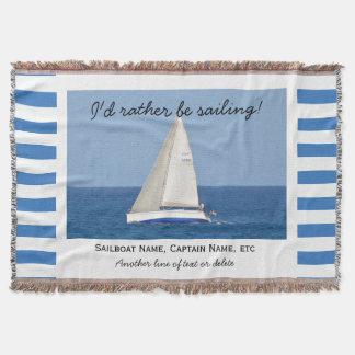 Sailing Custom Sailboat Photo Nautical Striped