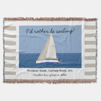 Sailing Custom Sailboat Photo Nautical Tan Striped
