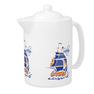Sailing custom teapot