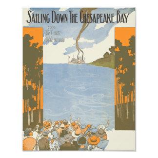 Sailing Down the Chesapeake Bay Photo Print