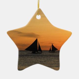 Sailing: Feel the wind. Ceramic Star Decoration
